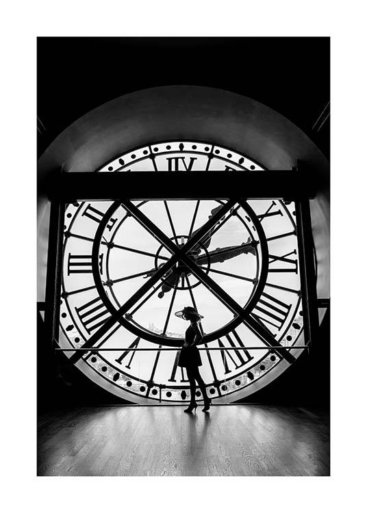 What's The Time? Poster / Black & white at Desenio AB (3434)
