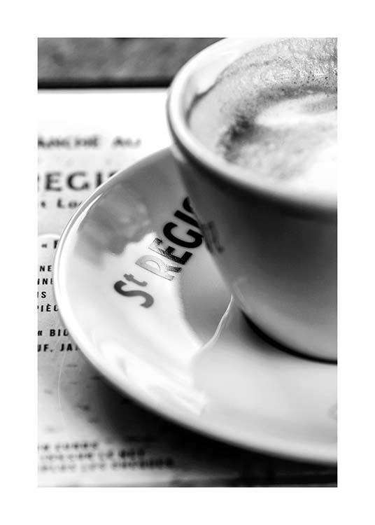 Café St. Regis Poster / Black & white at Desenio AB (3436)