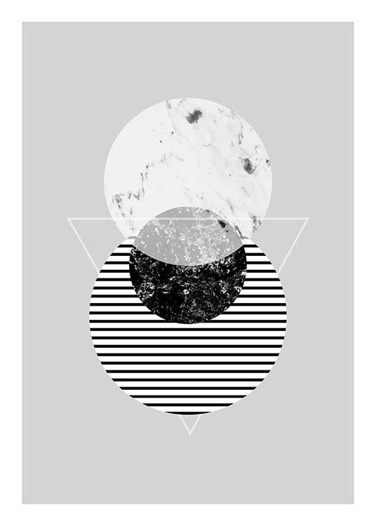 Graphic Planets 2 Poster / Black & white at Desenio AB (3443)