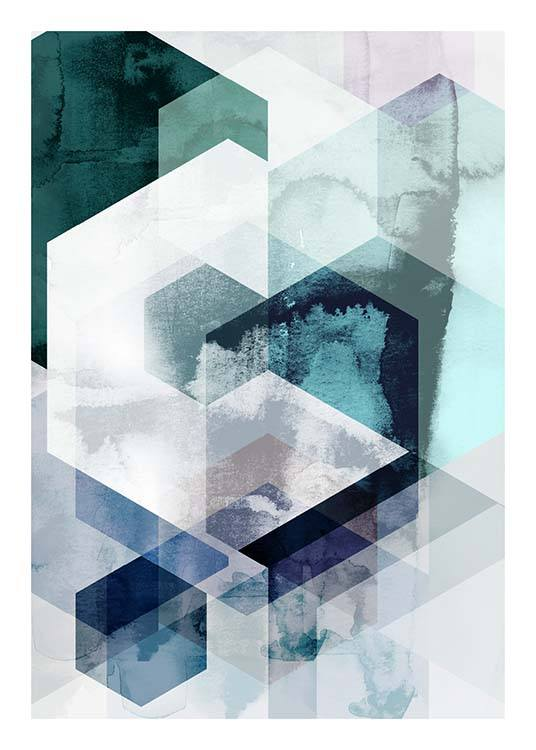 Graphic Hexagons Poster / Art prints at Desenio AB (3448)