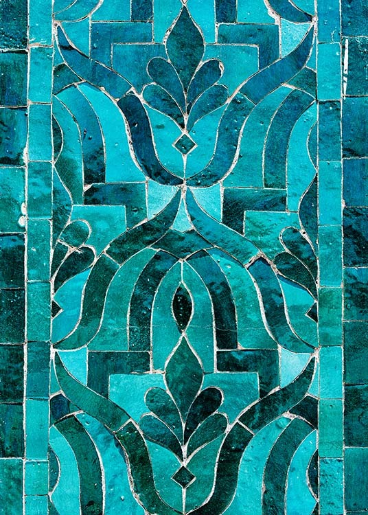 Green Oriental Mosaic Poster / Photographs at Desenio AB (3553)
