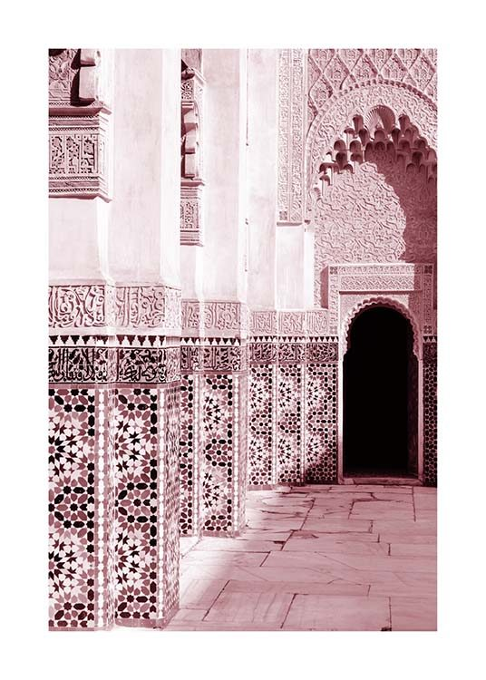 Pink Ornamental Architecture Poster / Photographs at Desenio AB (3557)