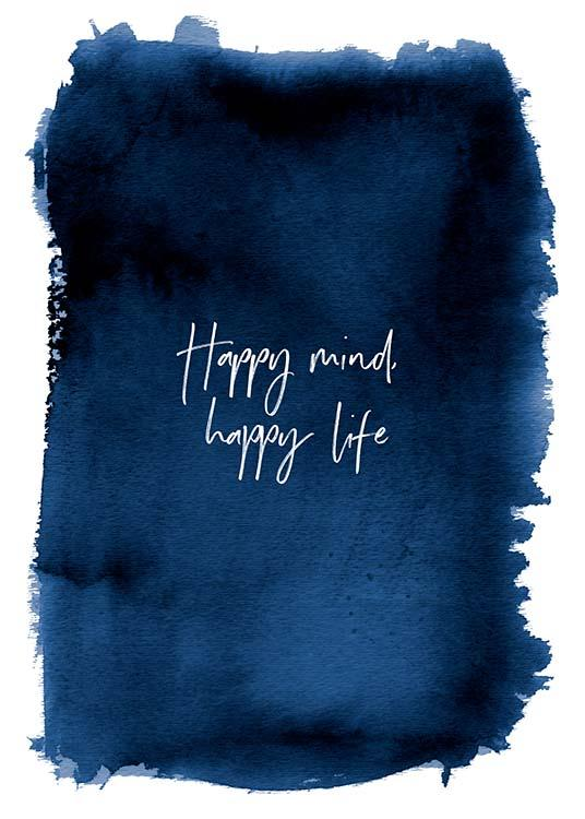 Happy Mind Poster / Text posters at Desenio AB (3666)