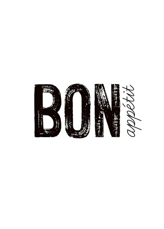 Bon Appetit Poster / Text posters at Desenio AB (3674)