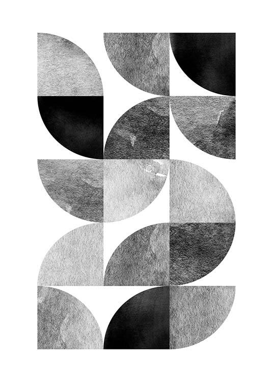 Circle Pattern No 2 Poster / Graphical at Desenio AB (3699)