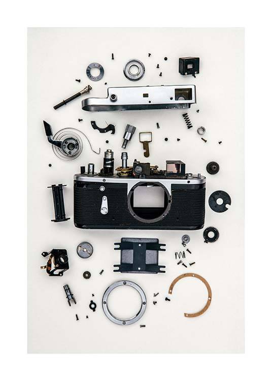 Disassembled Camera Poster / Photographs at Desenio AB (3732)