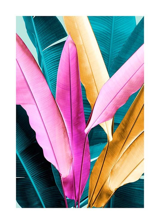 Neon Leaves Two Poster / Botanical at Desenio AB (3768)