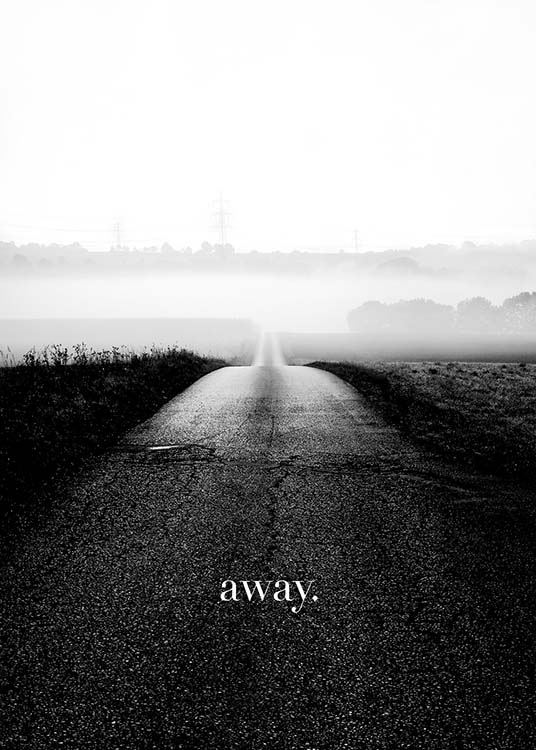 Away Poster / Text posters at Desenio AB (3859)
