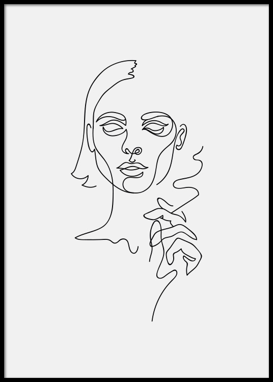 Smoking Girl Poster / Art prints at Desenio AB (3916)