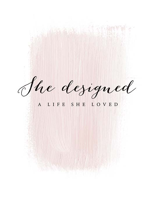 A Life She Loved Poster / Text posters at Desenio AB (3942)