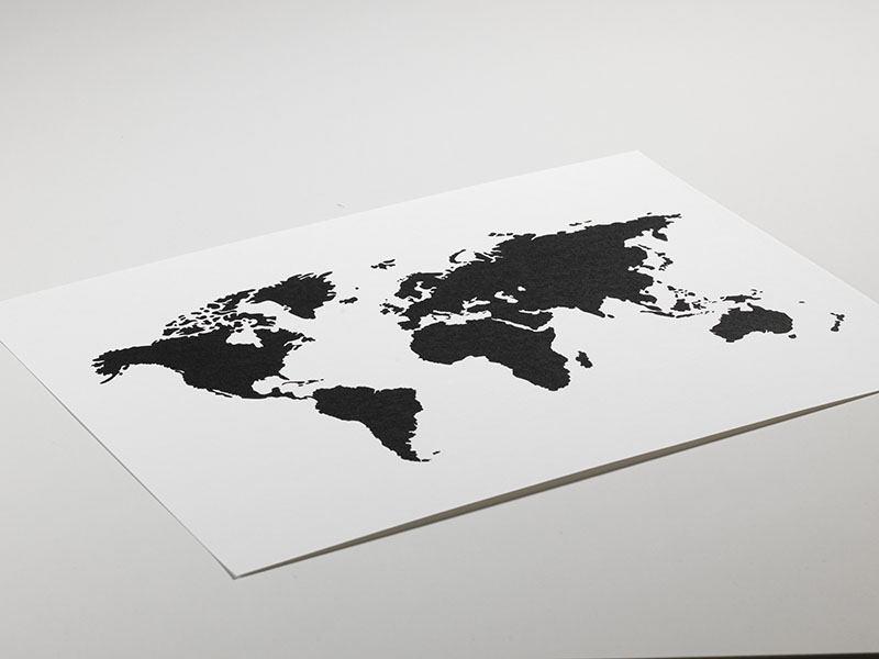 World map poster black and white prints and posters with maps tavla poster med svartvit vrldskarta gumiabroncs Images