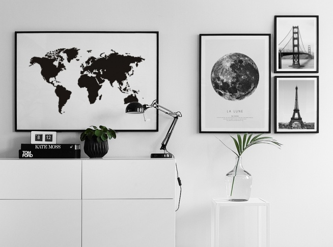 World map poster black and white prints and posters with maps tavla gumiabroncs Images