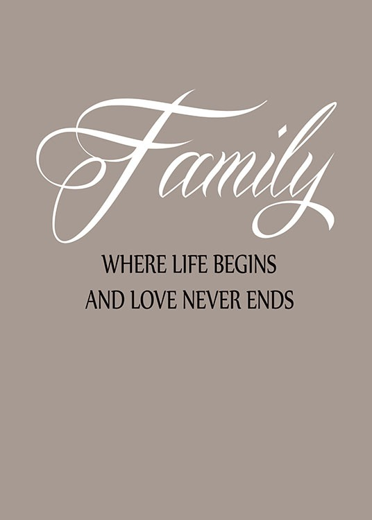 Family Love, Posters / Text posters at Desenio AB (7370)