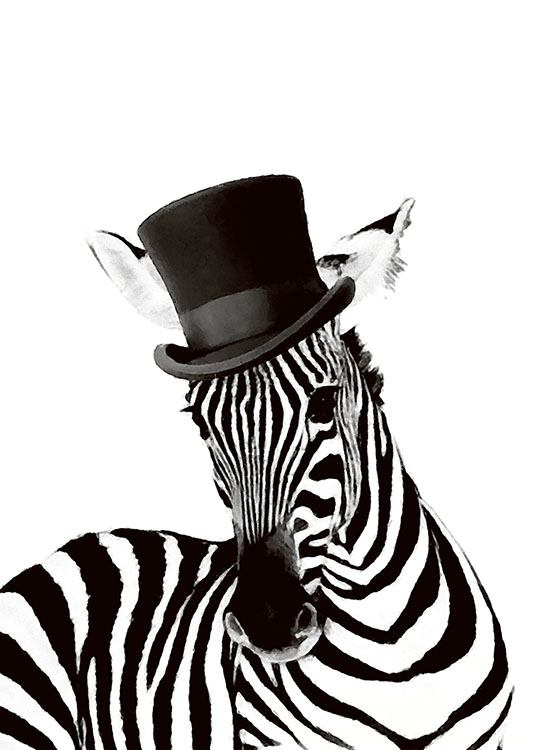 poster print of zebra desenio