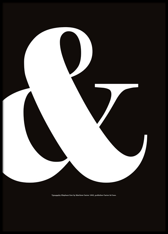 graphic print with sign ampersand poster. Black Bedroom Furniture Sets. Home Design Ideas