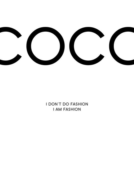 ab4e537abce6 Coco Chanel print