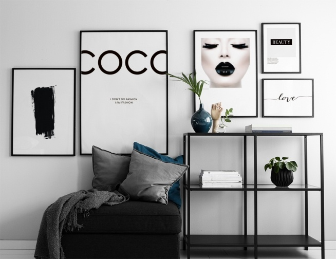 Fashion Wall Art Printables Black White