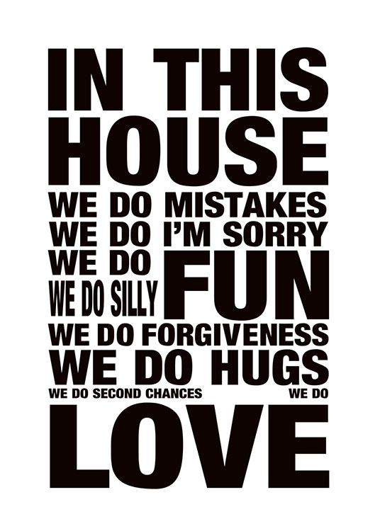 House Rules, Posters / Text posters at Desenio AB (7545)