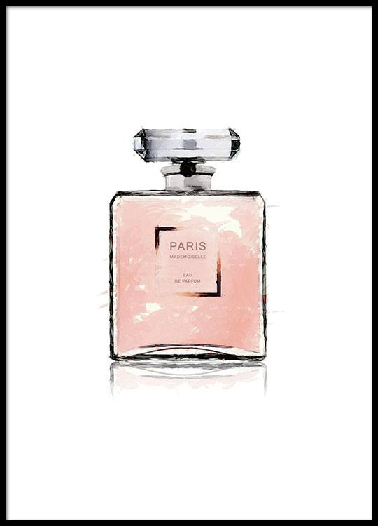 Print With A Pink Perfume Bottle