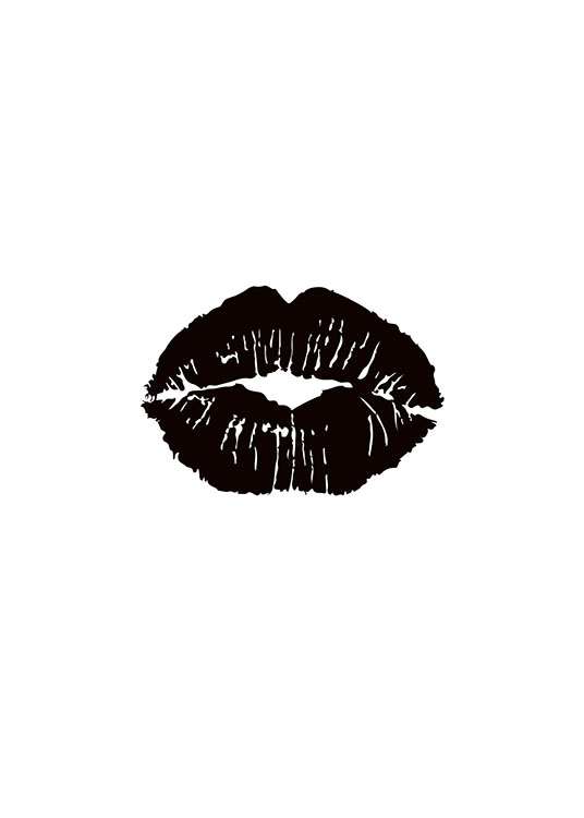 Print With Black Lips  Stylish Posters And Prints Online -3163