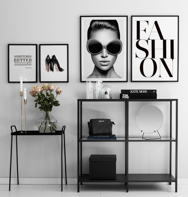 Poster Print With Jimmy Choo Print With Fashion