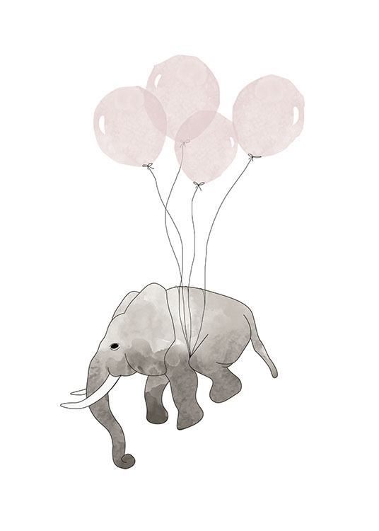 Elephant Pink, Posters / Kids wall art at Desenio AB (7780)