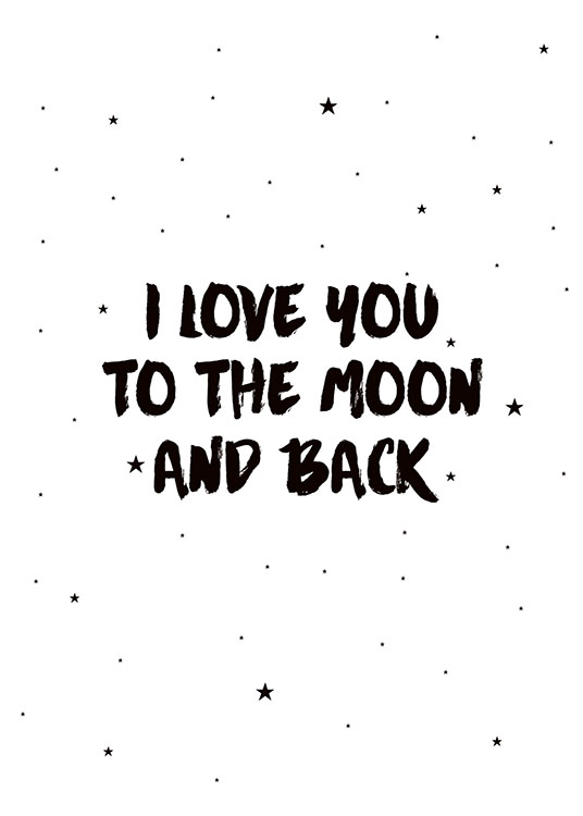 Moon And Back, Prints / Kids wall art at Desenio AB (7786)