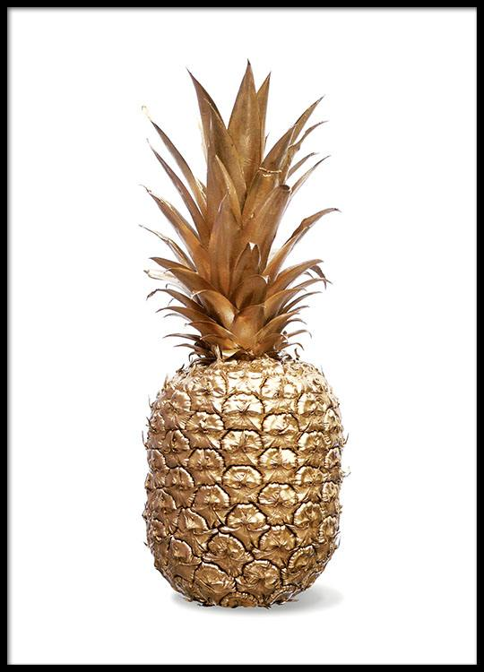 Poster Print With Gold Pineapple Kitchen Art Online