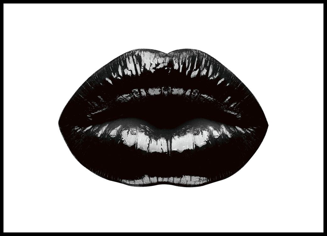 Black lips poster with black lips trendy prints and posters