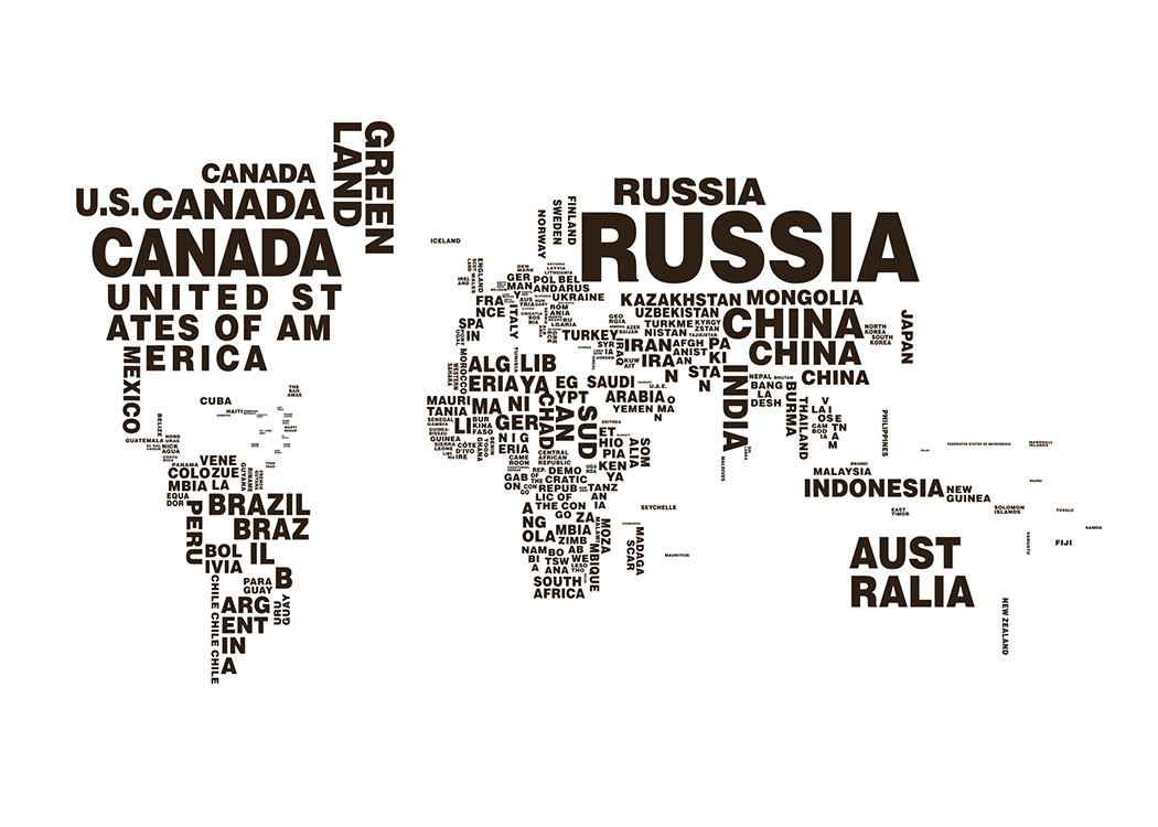 poster of a world map prints with maps black and white prints. Black Bedroom Furniture Sets. Home Design Ideas