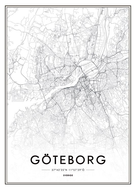 pink room göteborg karta Göteborg, Poster (50x70cm) pink room göteborg karta