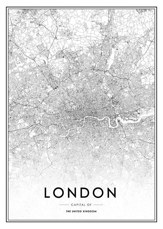 London Poster / Black & white at Desenio AB (8126)