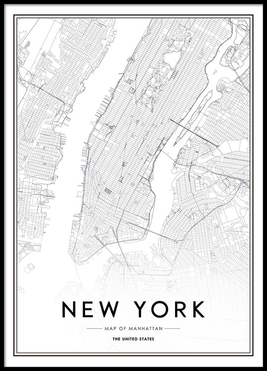 Picture Of New York Map.New York Map Poster