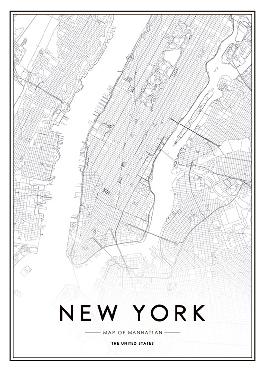 poster with new york map desenio. Black Bedroom Furniture Sets. Home Design Ideas