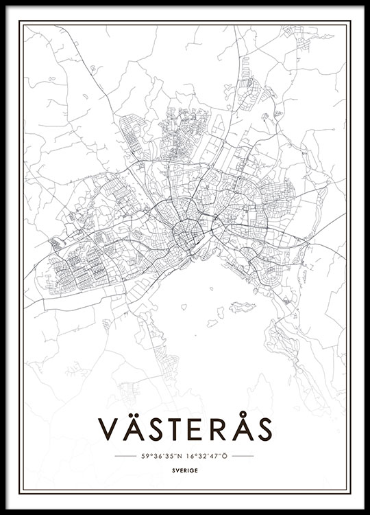 Print with Vsters map Prints and poster online