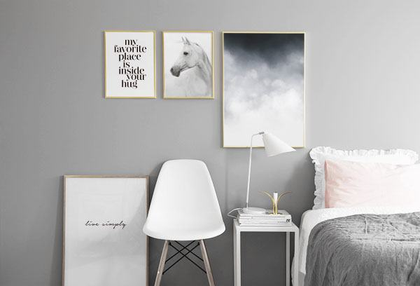 Scandinavian design and decor Poster with abstract art.