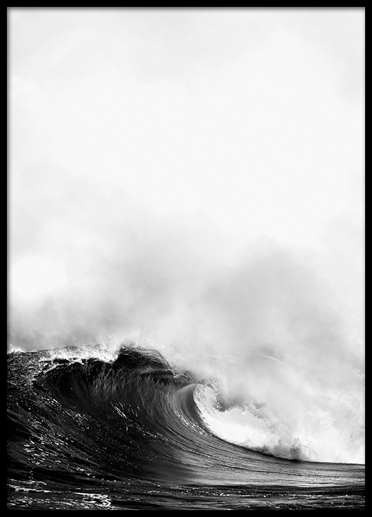 poster with photo of ocean wave print with photo art prints