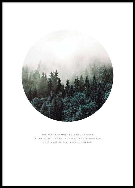 Scandinavian posters and prints. Nordic nature with forest ...