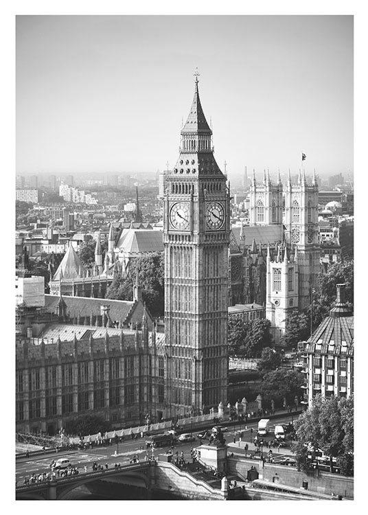 Snygg poster tavla med london foto fin till modern inredning
