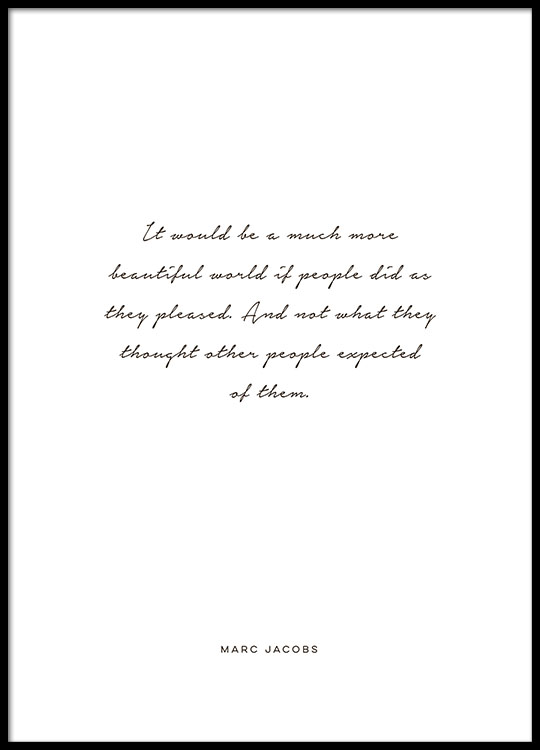 poster quote by marc jacobs print quote typography prints