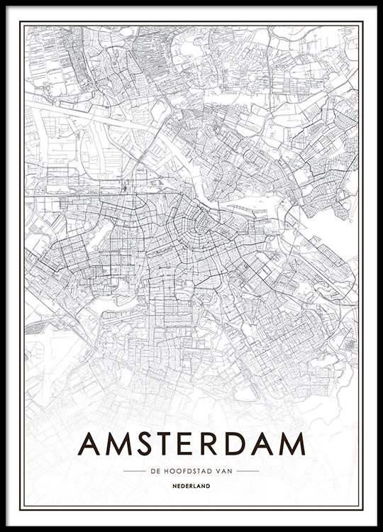 photograph relating to Printable Map of Amsterdam identified as Amsterdam Map, Poster