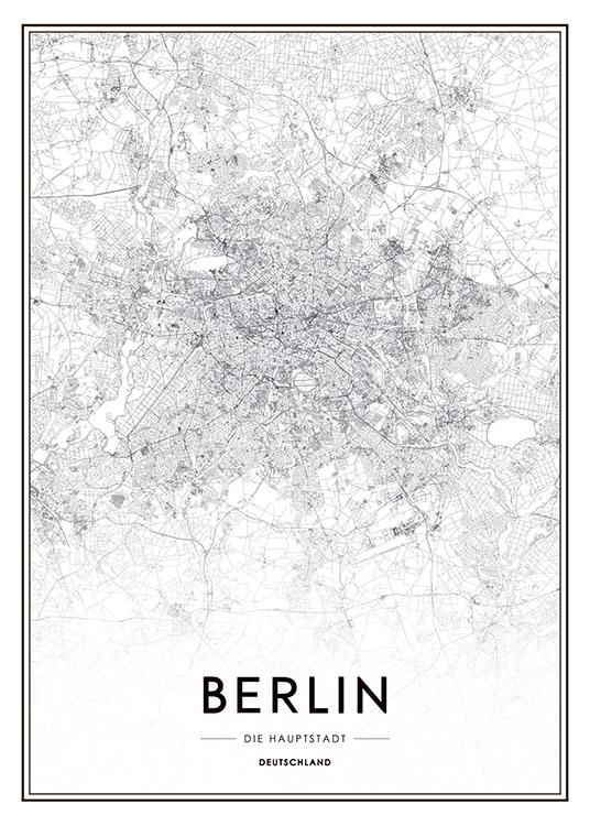 Berlin Map, Poster