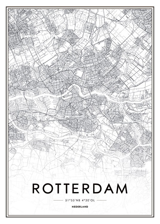 Rotterdam, Poster / Maps & cities at Desenio AB (8279)