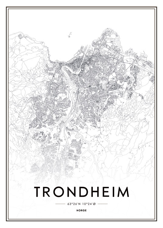 Trondheim, Poster / Maps & cities at Desenio AB (8281)