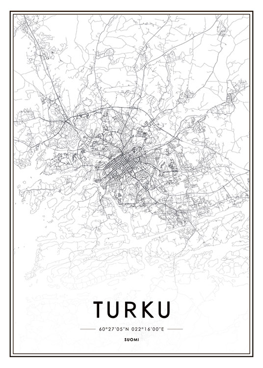 Turku, Poster / Maps & cities at Desenio AB (8282)