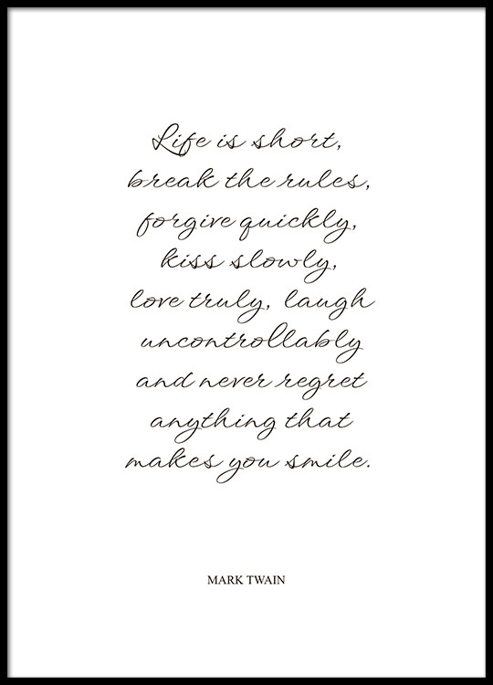 Posters With Quotes By Mark Twain Prints Desenio