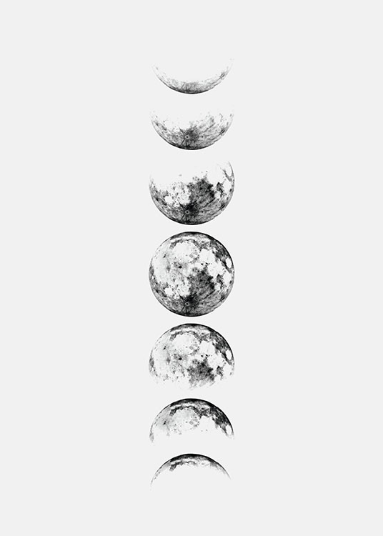 Phases Of The Moon Tattoo Design