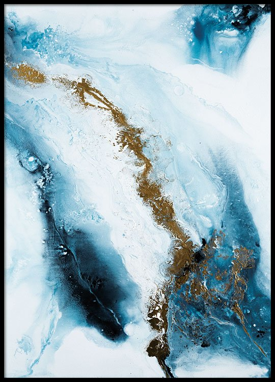 Into the blue poster in the group prints art prints abstract art at