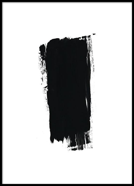 brush black poster. Black Bedroom Furniture Sets. Home Design Ideas