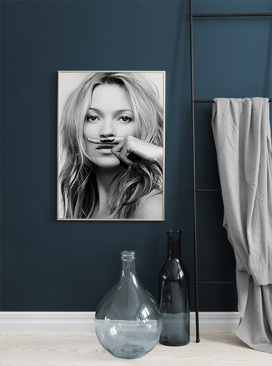Kate Moss Wall Poster Vintage Poster Black And White Poster Kate Moss Print Kate Moss Artwork Kate Moss Wall Art Kate Moss Gift